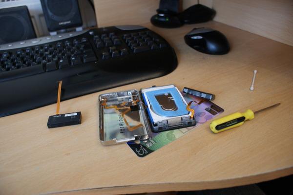 Замена батареи в iPod