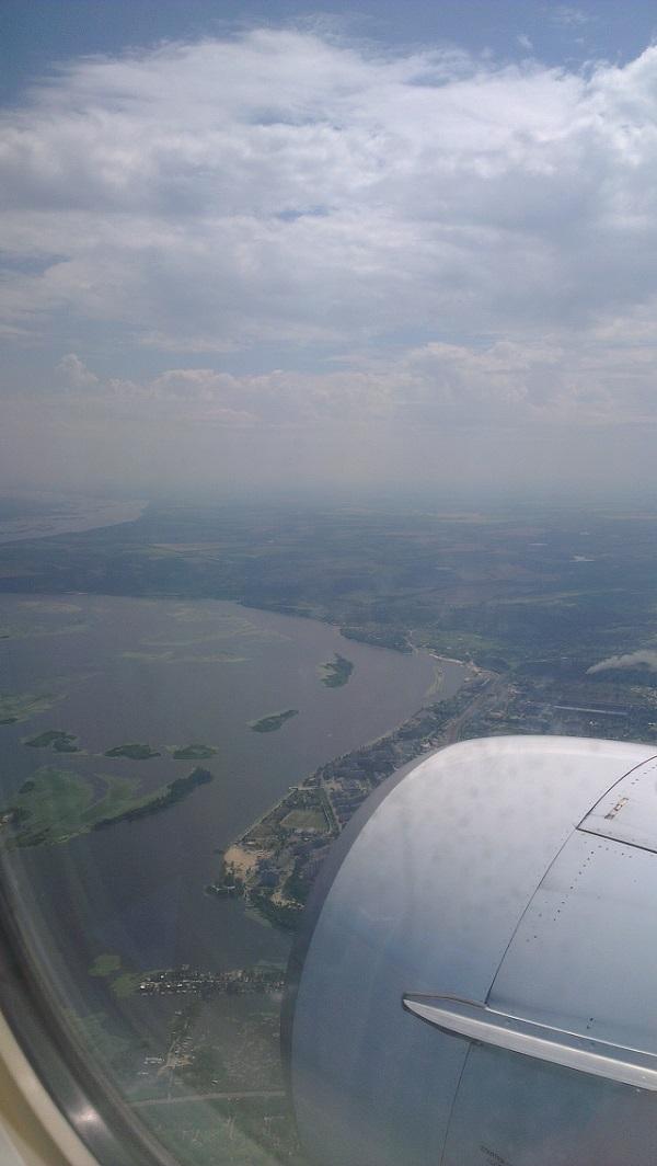 Киев из окна самолёта