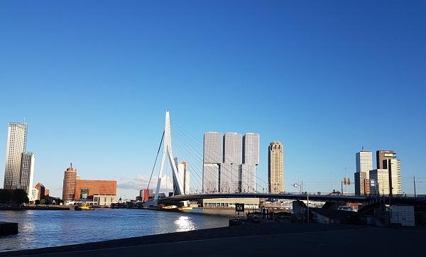 мост Erasmusbrug в Роттердаме