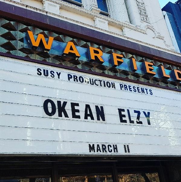 Вывеска концерта Океан Эльзы в Сан-Франциско