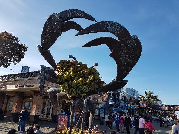 Памятник Крабу в Сан-Франциско