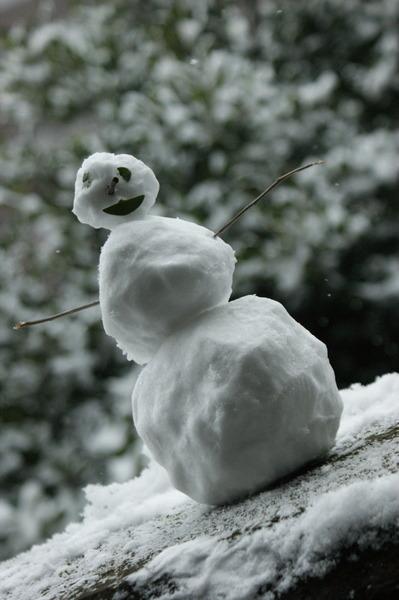 Прошлогодний снеговик, которого слепил я